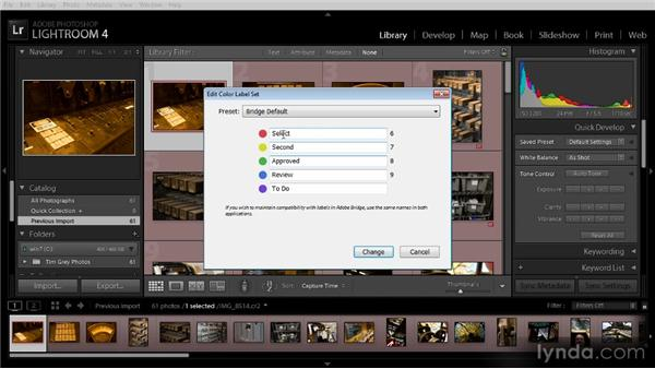 Images with Bridge color labels: Getting Started with Lightroom 4