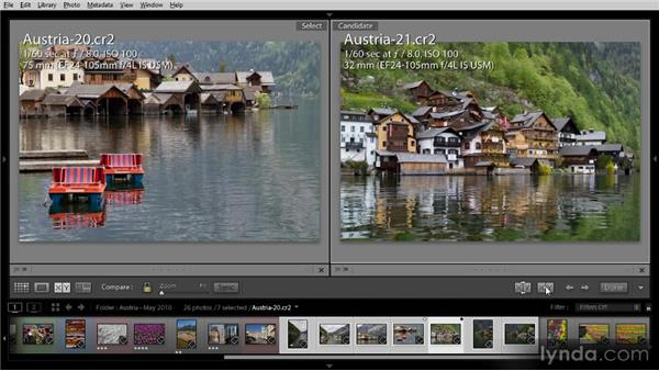 Using Compare view: Getting Started with Lightroom 4