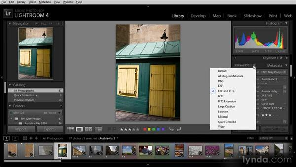 Updating metadata: Getting Started with Lightroom 4