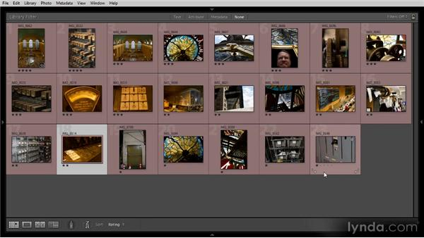 Sorting images: Getting Started with Lightroom 4