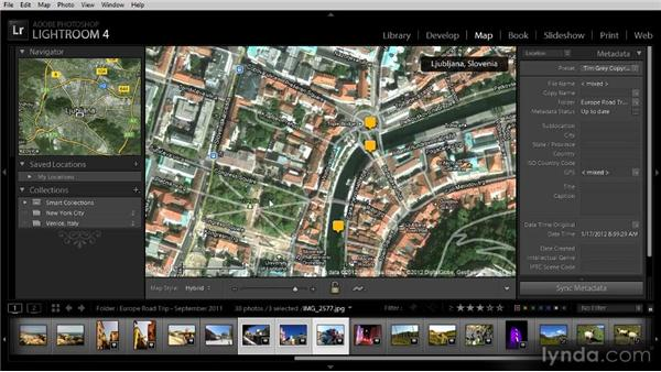 Viewing images on a map: Getting Started with Lightroom 4
