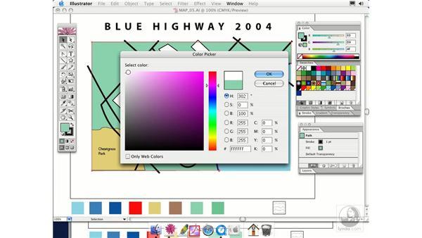 color picker: Illustrator CS Essential Training