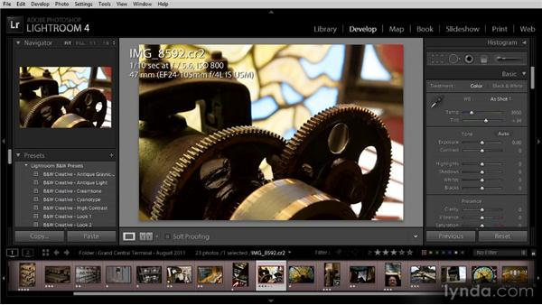 Quick Develop for multiple images: Getting Started with Lightroom 4