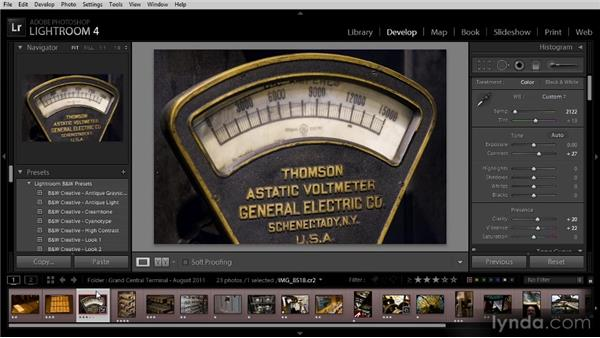 Synchronizing adjustments: Getting Started with Lightroom 4