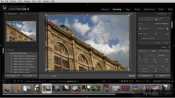 Cropping an image: Getting Started with Lightroom 4