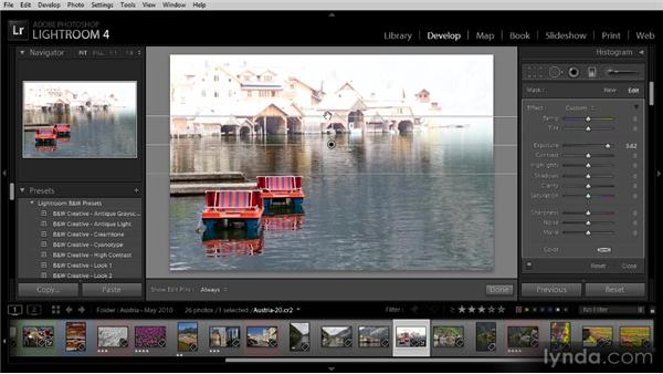 Gradient adjustments: Getting Started with Lightroom 4