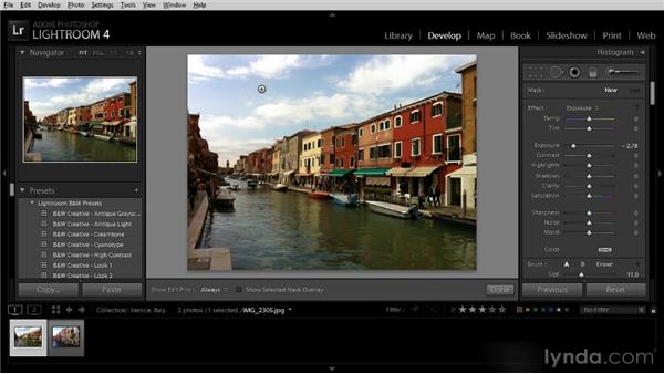 Targeted adjustments with the Adjustment Brush: Getting Started with Lightroom 4