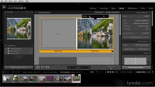 Creating a basic photo book: Getting Started with Lightroom 4
