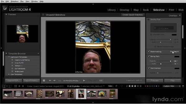 Creating a photo slideshow: Getting Started with Lightroom 4
