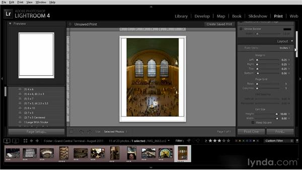 Printing photos: Getting Started with Lightroom 4