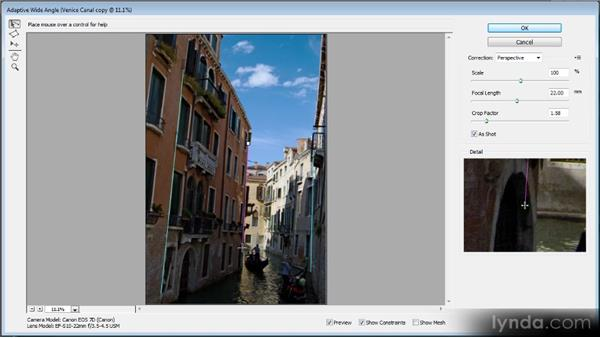 The Adaptive Wide Angle filter: Photoshop CS6 New Features Overview