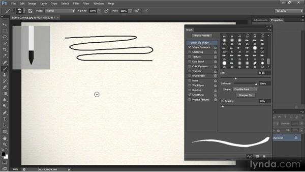 Erodible brush tips: Photoshop CS6 New Features Overview