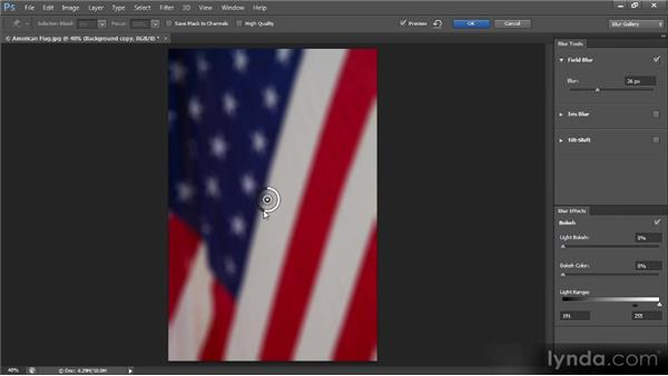 The Field Blur filter: Photoshop CS6 New Features Overview