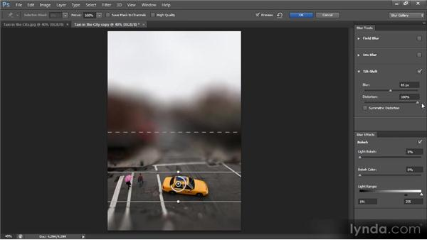 The Tilt-Shift filter: Photoshop CS6 New Features Overview