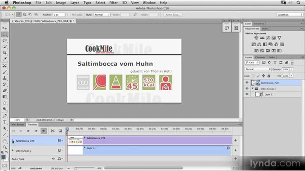 Video groups and arranging clips: Photoshop CS6 New Features Overview