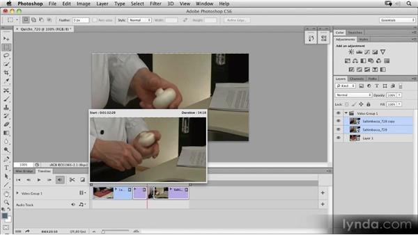 Trimming and splitting clips and adding transitions: Photoshop CS6 New Features Overview