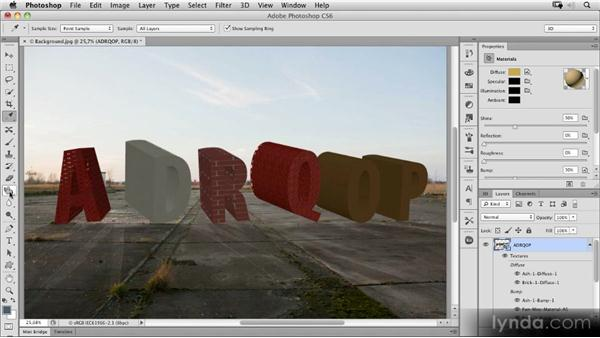 3D materials and rendering: Photoshop CS6 New Features Overview