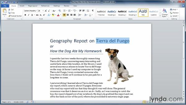 Exploring the Ribbon: Learning Word 2010