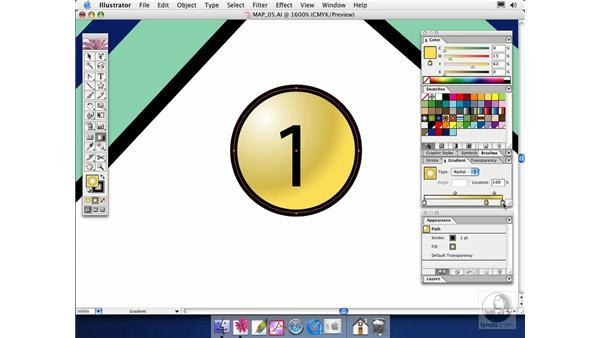 radial gradients: Illustrator CS Essential Training