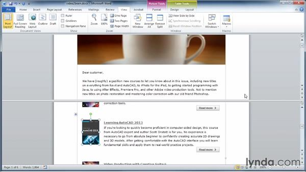 Splitting the window: Learning Word 2010