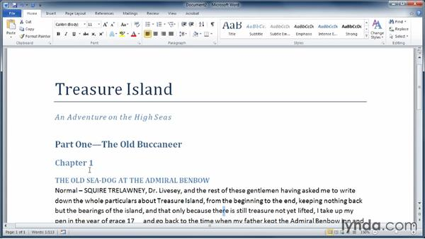 Using Word styles and style sets: Learning Word 2010