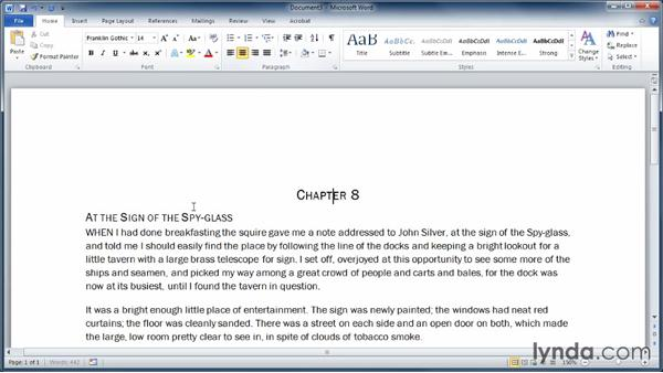 Aligning paragraphs: Learning Word 2010