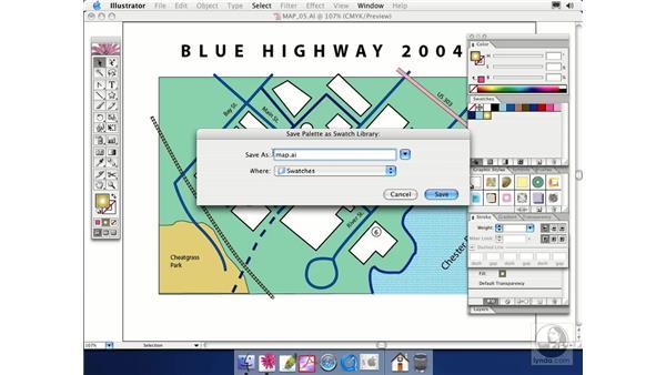 swatch libraries: Illustrator CS Essential Training