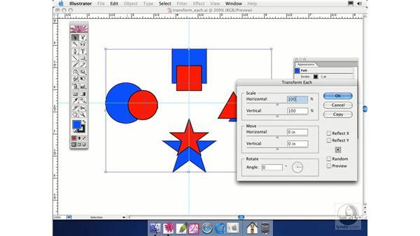 transform each: Illustrator CS Essential Training
