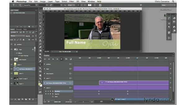 Adding text to a video: Design the Web: Video Graphics and Animation