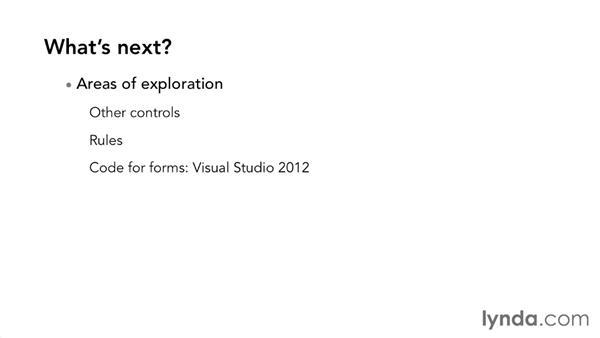 Next steps: InfoPath 2013 Essential Training