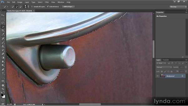 Mixing and matching selection tools: Photoshop CS6 Selections and Layer Masking Workshop