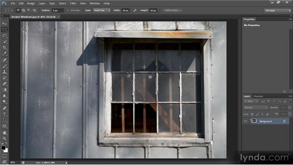 The Rectangular Marquee tool: Photoshop CS6 Selections and Layer Masking Workshop