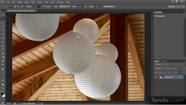 The Elliptical Marquee tool: Photoshop CS6 Selections and Layer Masking Workshop