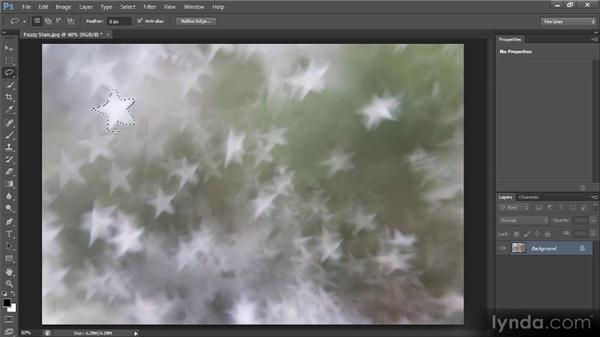 The Lasso tool: Photoshop CS6 Selections and Layer Masking Workshop