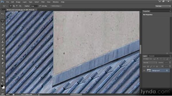 The Polygonal Lasso tool: Photoshop CS6 Selections and Layer Masking Workshop