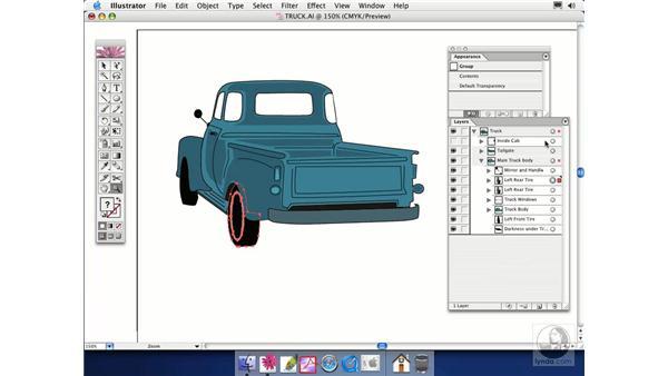 duplicating layers: Illustrator CS Essential Training