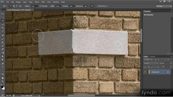 The Magnetic Lasso tool: Photoshop CS6 Selections and Layer Masking Workshop