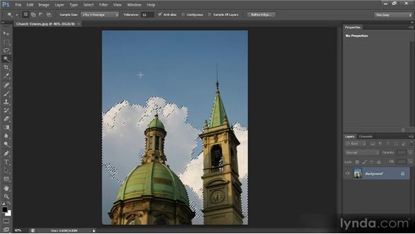 The Magic Wand tool: Photoshop CS6 Selections and Layer Masking Workshop