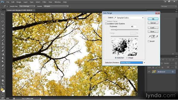 The Color Range command: Photoshop CS6 Selections and Layer Masking Workshop