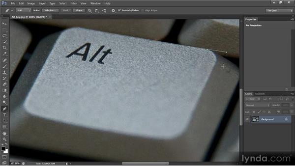 The Pen tool: Photoshop CS6 Selections and Layer Masking Workshop