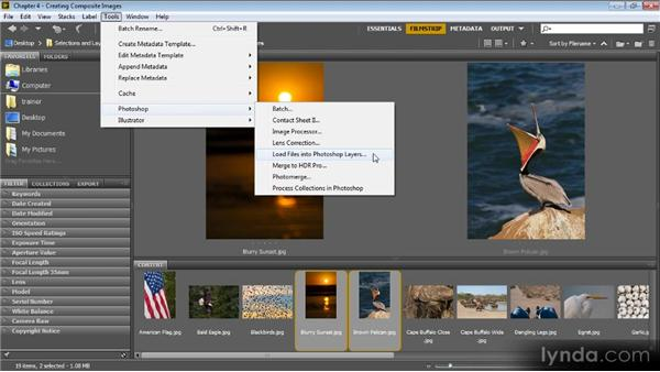 Using Bridge to layer images automatically: Photoshop CS6 Selections and Layer Masking Workshop