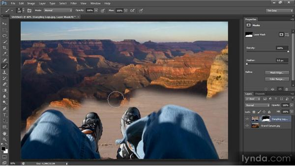Painting to hide and reveal: Photoshop CS6 Selections and Layer Masking Workshop