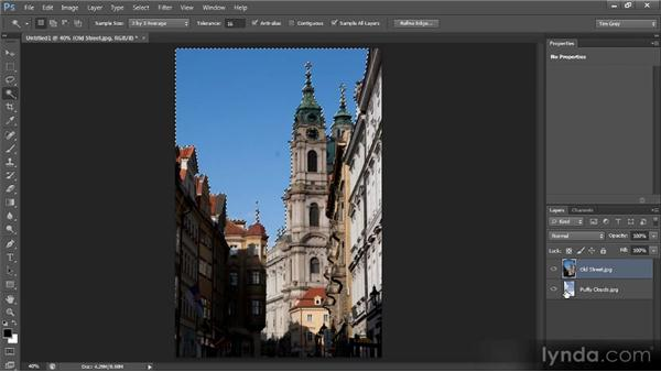 Creating a selection-based composite: Photoshop CS6 Selections and Layer Masking Workshop
