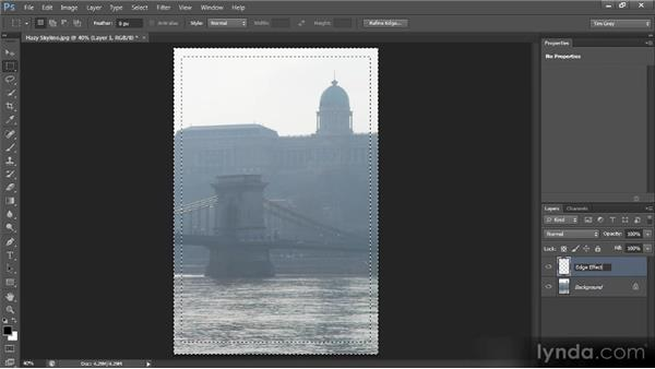Creating an edge-fade effect: Photoshop CS6 Selections and Layer Masking Workshop