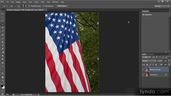 Blurring a background: Photoshop CS6 Selections and Layer Masking Workshop