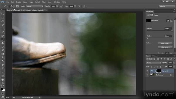 Painting an adjustment: Photoshop CS6 Selections and Layer Masking Workshop