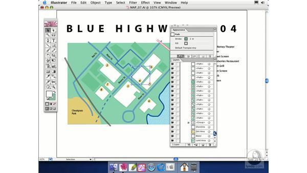 merging and flattening: Illustrator CS Essential Training