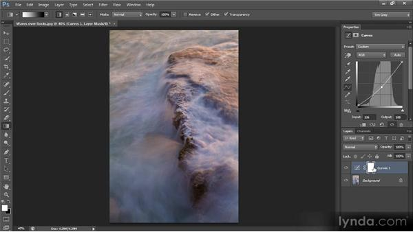 Using the Gradient tool: Photoshop CS6 Selections and Layer Masking Workshop