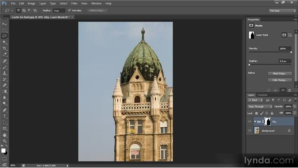 Using a layer group: Photoshop CS6 Selections and Layer Masking Workshop