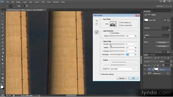 Refining an adjustment mask: Photoshop CS6 Selections and Layer Masking Workshop